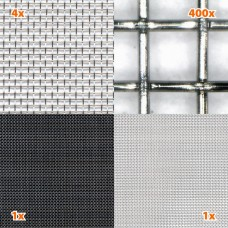 HF + toile en acier LF / inox HEG03 / Largeur 120 cm / 1 mètre linéaire